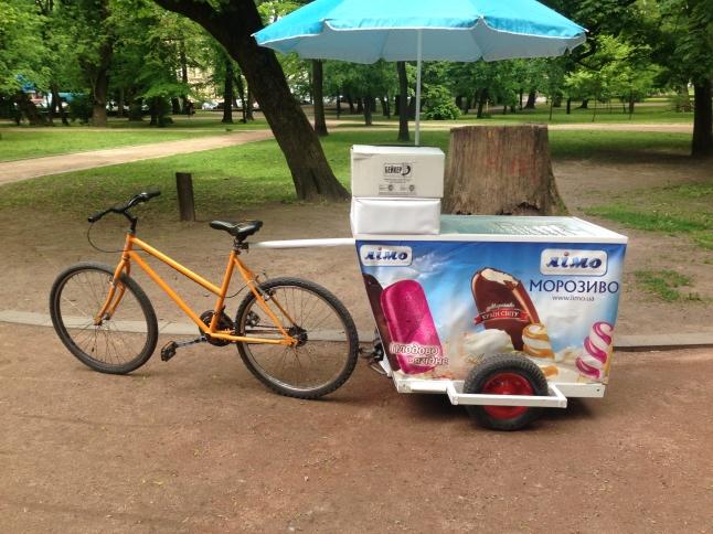 Фото - мобильная торговая точка продажи мороженого не требуещая 220в