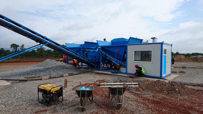 Фото - Мобильный бетонный завод для строительных работ