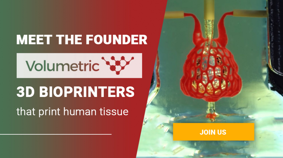 Meet the founder of startup Volumetric - 3D-bioprinters that print human tissue