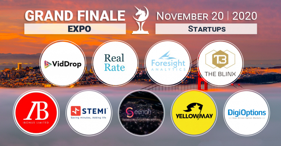 Startups-participants of the Startup Expo at the Unicorn Cup Finals
