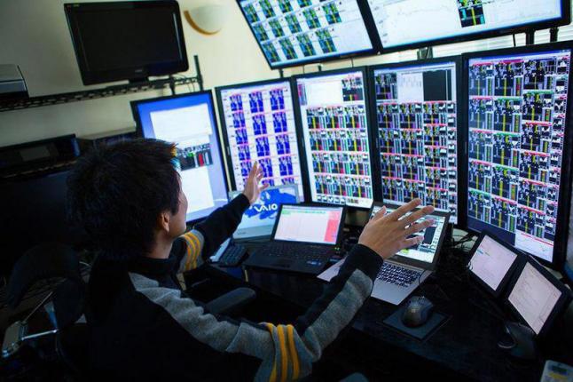 Фото - Торговля на фондовом рынке.
