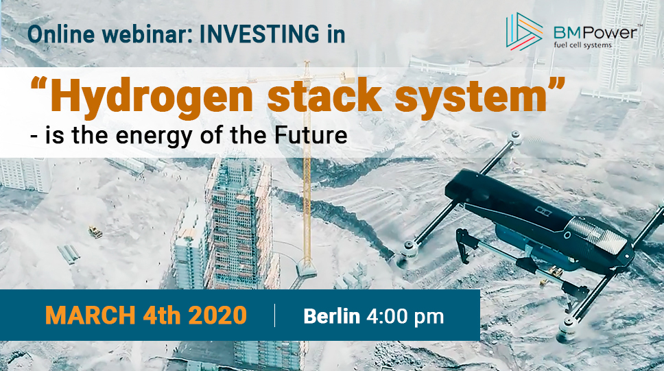 """Webinar: """"Hydrogen stack system – is the energy of the Future"""